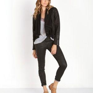 Free people 6 black front drape lightweight jacket
